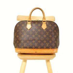 LOUIS VUITTON Monogram ALMA Handbag Auth